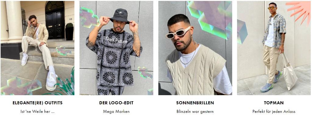 Auch Fashion für Herren wird mit Gutscheinen von Asos günstiger.