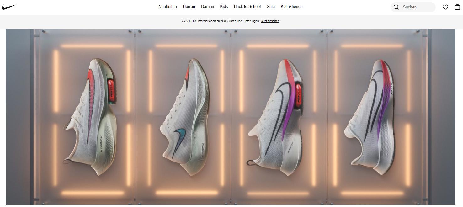 Nike Gutscheine können auf das ganze Sortiment angewendet werden