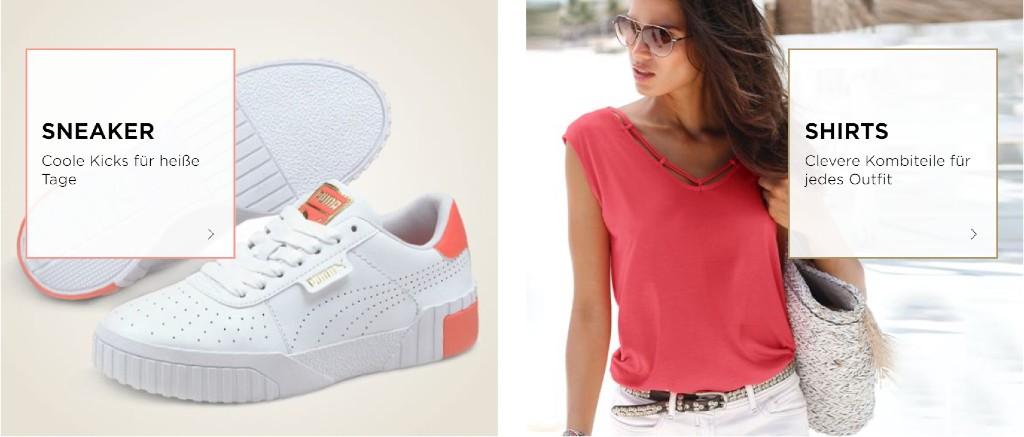 Beim Kauf von Sneaker und Shirts dank des Gutscheins sparen