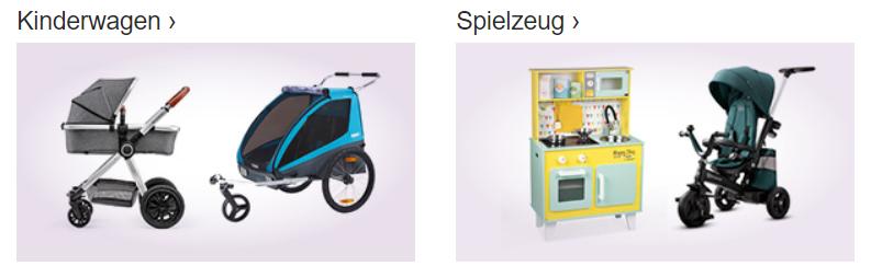 Gutscheine von babymarkt für Kinderwagen einsetzen.