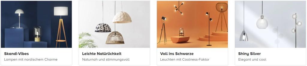 Beim Kauf von Lampen mit Gutscheinen von home24 sparen